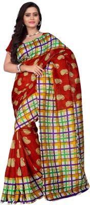 M Black Pearl Digital Prints Bhagalpuri Cotton Sari