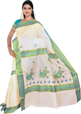 Thirumalai Textiles-Kerala Saree Self Design Balarampuram Cotton Sari