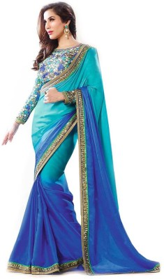 The Desi Attire Floral Print Fashion Chiffon Sari