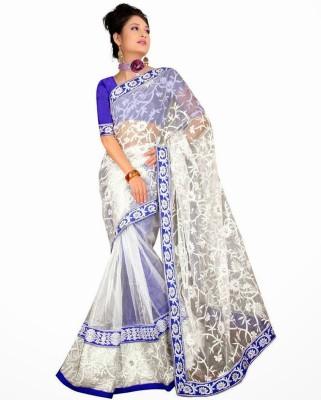 SRK Self Design Bollywood Handloom Net Sari