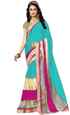Matindra Enterprise Self Design Fashion Lycra Sari