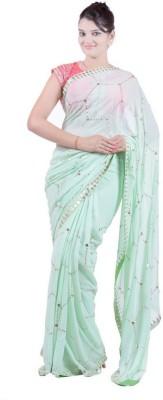 Janaknandini Solid Fashion Georgette Sari