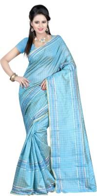 Shristy Fashion Checkered Bapta Printed Silk Sari