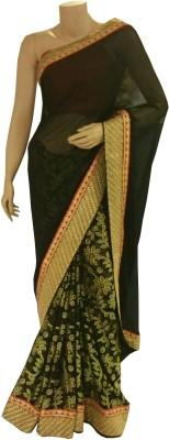 BEAUVILLE VAIIBAVAM Printed Fashion Synthetic Georgette, Satin Sari