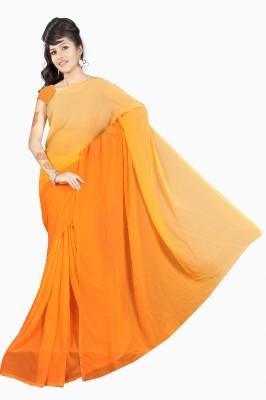 Stella Creation Plain Daily Wear Handloom Georgette Sari