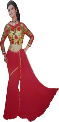 M.S.Center Plain Bollywood Synthetic Sari