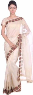 Geroo Embriodered Fashion Art Silk Sari