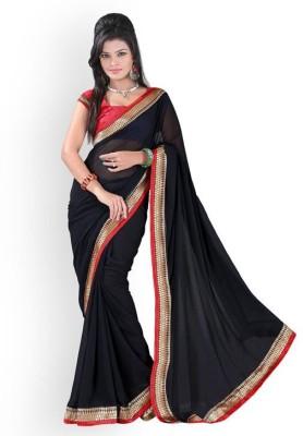 Jalpafashion Plain Daily Wear Georgette Sari