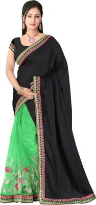 Pbs Prints Self Design Fashion Jacquard, Net Sari