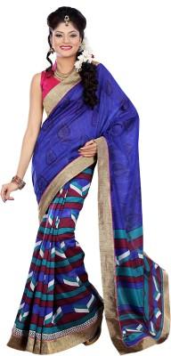 Cutie Pie Printed Bhagalpuri Banarasi Silk Sari