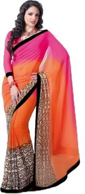 Wama Fashion Printed Fashion Chiffon Sari