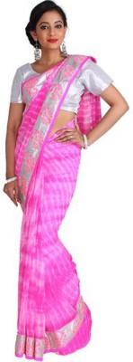 Nav Durga Applique, Embellished Daily Wear Art Silk Sari
