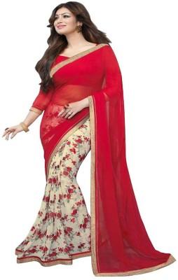 ambey shree trendz Geometric Print Rajkot Georgette Sari