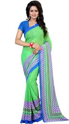 Kalika Geometric Print Bollywood Georgette Sari