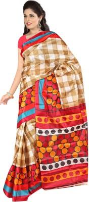 Salasar Floral Print Fashion Art Silk Sari