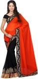 JDX Solid Fashion Georgette Saree (Multi...