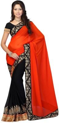 JDX Solid Fashion Georgette Sari