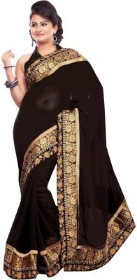 VedDeal Self Design Fashion Georgette Sari