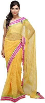 KALYANAM Printed Maheshwari Chiffon Sari