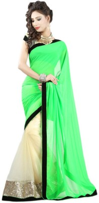 Kanha Fashionna Plain Fashion Net Sari