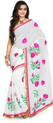 Murli Manohar Fashions Self Design Bollywood Handloom Georgette Sari