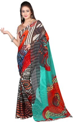 Shree Sidh Printed Bollywood Chiffon Sari