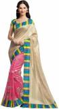 Gini Gold Printed Bhagalpuri Raw Silk Sa...