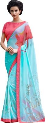 Diva Fashion-Surat Printed Bollywood Handloom Georgette Sari