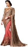 Ethnic Point Embriodered Fashion Pure Ge...