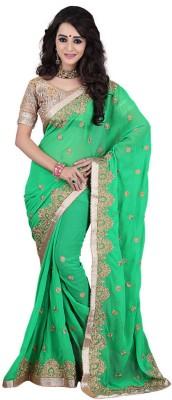 SK Embriodered Fashion Georgette Sari