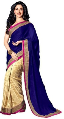 Makekaartz Plain Bollywood Silk Sari