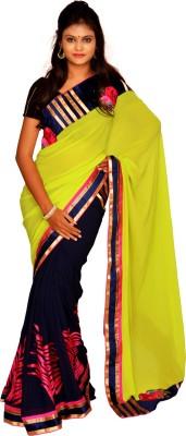 Jagadamba Floral Print Fashion Georgette Sari