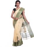 Adaab Self Design Tant Handloom Cotton S...