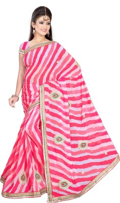 ST saree Solid Bollywood Georgette Sari