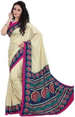 Sarovar Sarees Self Design, Geometric Print, Floral Print, Polka Print, Striped, Printed Mysore Silk Sari