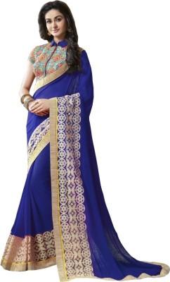 Fashionsurat Self Design Fashion Georgette Sari