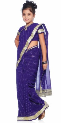 Bhartiya Paridhan Embellished Fashion Synthetic Georgette Sari