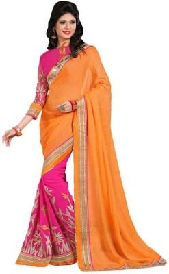 edeal online Embriodered Fashion Georgette Sari