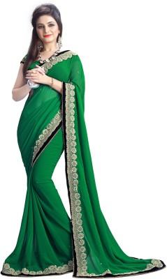 BHUWAL FASHION Embriodered Fashion Georgette Sari