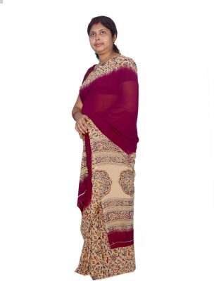 AVIK Printed Fashion Chiffon Sari