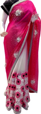 Mamta Boutique Self Design Bollywood Chiffon, Net Sari