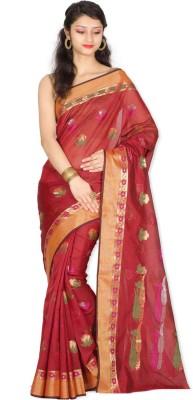 Chandrakala Printed Banarasi Silk Cotton Blend Sari