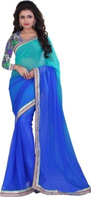 Indi Wardrobe Floral Print Bollywood Georgette Sari