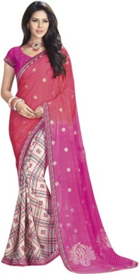 Akshaya Fashons Checkered Rajkot Pure Georgette Sari