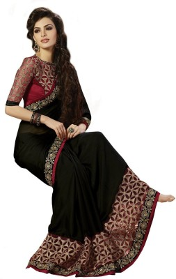 Trishulom Cloth's Online Embriodered Baluchari Georgette Sari