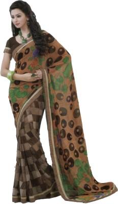 Shilpkar Geometric Print Fashion Chiffon Sari