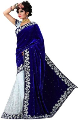 navya diseno Self Design Bollywood Velvet Sari