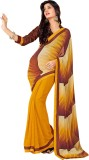Saara Printed Fashion Georgette Saree (Y...