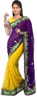 Heer Ganga Embriodered Fashion Chiffon Sari
