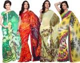 Variation Printed Daily Wear Georgette S...
